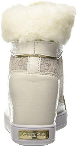 White Zapatillas Furr para Guess Blanco Altas Mujer YAnnqv