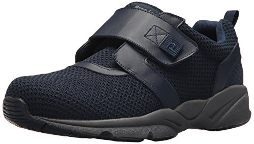 XX-Wide Propet Mens Stability X Strap Sneakers Navy 11.5 E