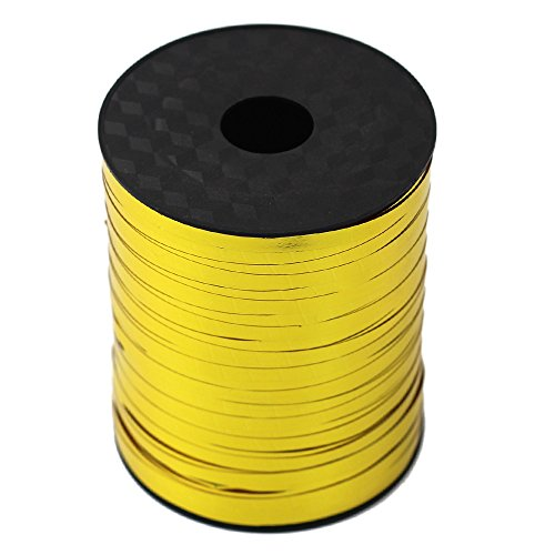 500 Yards Metallic Curling Ribbon Balloon Ribbons for Crafts and Gift Wrapping (Gold)