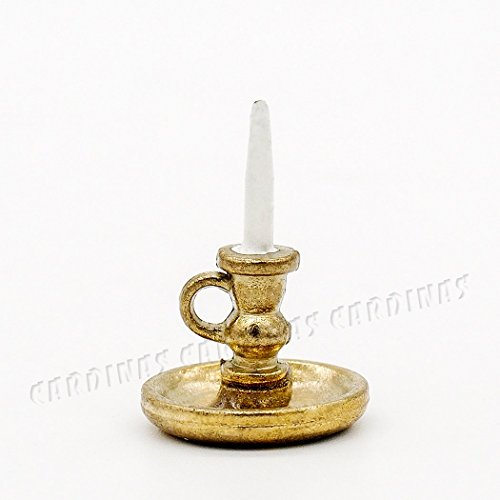 odoria-112-miniature-vintage-golden-candle-holder-dollhouse-decoration-accessories