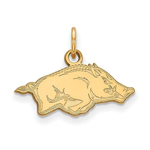 Arkansas Extra Small (3/8 Inch) Pendant (10k Yellow Gold) by LogoArt