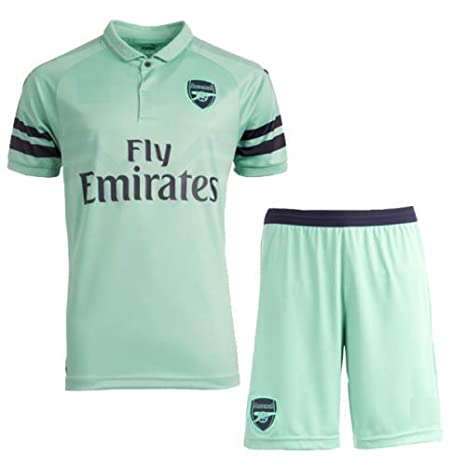 4ce1153e5 GOLDEN FASHION Non Branded Arsenal Third Football Jersey KIT 2018-19 Jersey  with Short (