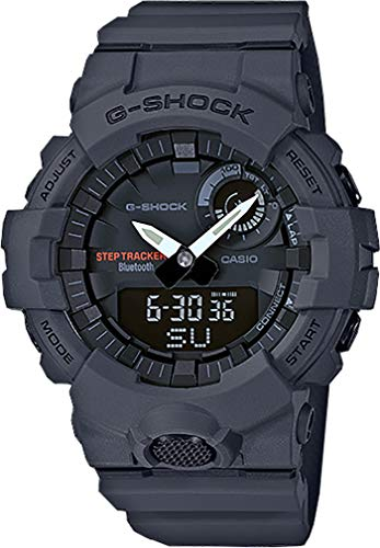 (Men's Casio G-Shock Urban Trainer Charcoal Watch GBA800-8A)