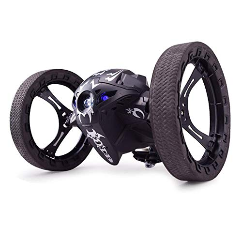Teepao Jumping Sumo Robot, Sumo Jumping Remote Control Jumping Stunter 360°Spin Rechargeable RC Bouncing Car for Kids Boys 2.4GHz(Black/White)