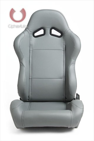 CPA1001 All Gray Leatherette Cipher Auto Racing Seats - Pair
