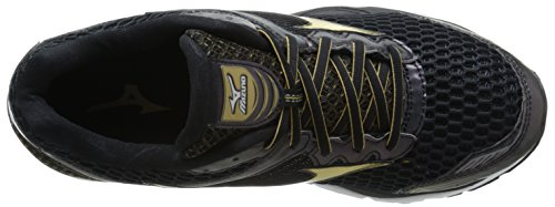 Mizuno Mens Wave Creation 17 Running Shoe Black / Gold / Dark Shadow