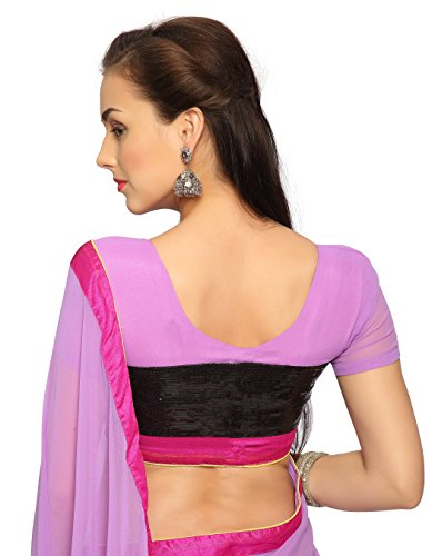Bollywood-Womens-Indian-Ethnic-Designer-lavender-color-Faux-georgette-Party-Wedding-Sarees-With-Saree-Blouse-Unstitched