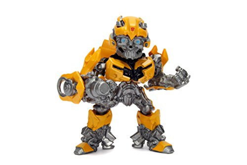 Transformers Metal Toy (Metalfigs Transformers: the Last Knight Bumblebee (M408) Metals Die-Cast Collectible Toy Figure, Yellow, 4