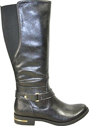 Kozi Dames Rijlaars Sd5512 Mode Kniekous Met Pelsvoering Zwart 38m
