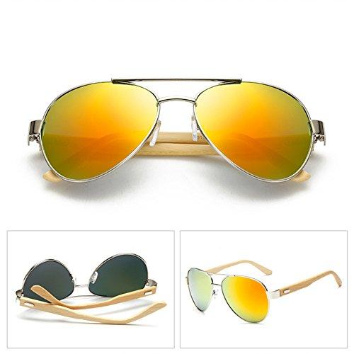 lunettes bambou en Vintage bois Retro hibote soleil de bras Womens EFTq0waa
