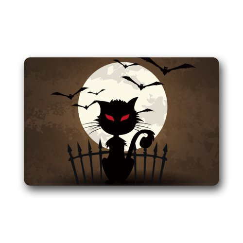 Halloween Doormats/Decorations/ Bat Moon Scary Cat Durable Machine-washable Indoor/outdoor Door Mat 18