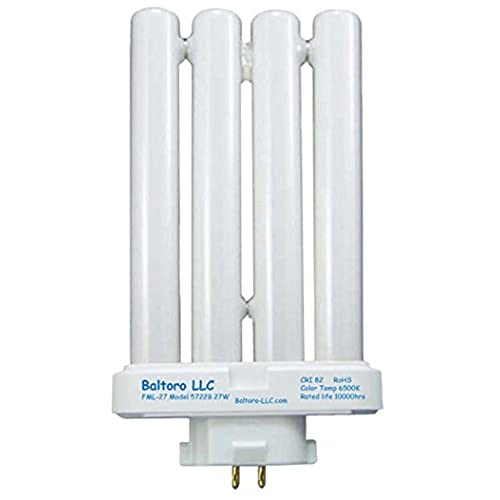 Desk lamp light bulb amazon fml2750 27 watt linear quad compact fluorescent cfl replacement bulb for sunlight desk or floor lamps fml27ex d fml27exn by baltoro llc mozeypictures Images