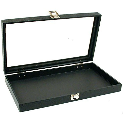 Glass Top Jewelry Pocket Watch Display Travel Case Box - Pocket Watch Display Cases