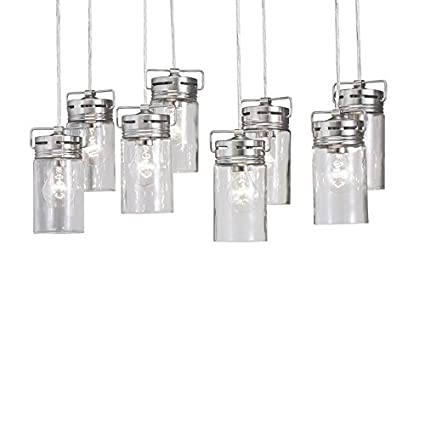 Vallymede 2547 in brushed nickel barn multi light clear glass jar vallymede 2547 in brushed nickel barn multi light clear glass jar pendant amazon aloadofball Choice Image