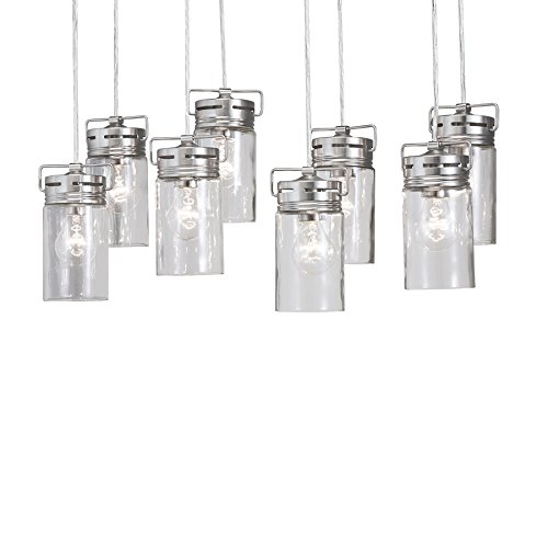 Allen and Roth Lighting: allen + roth vallymede 8-light brushed nickel chandelier