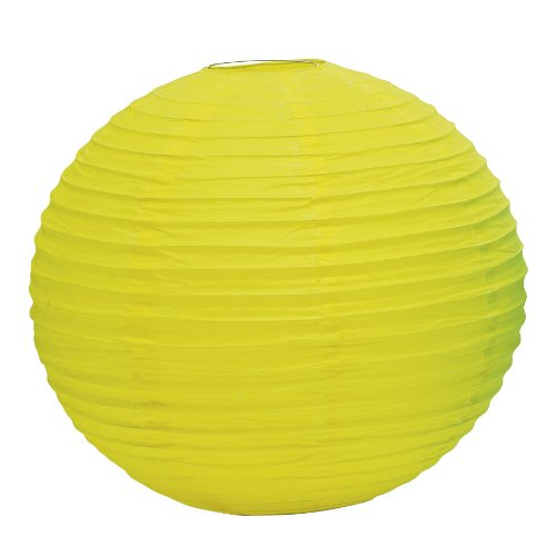 "Weddingstar Round Paper Lantern, 12"", Lemon Yellow"