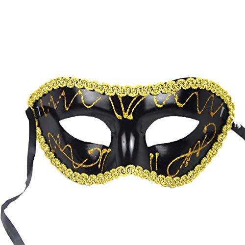 Mardi Gras Party - Halloween Carnaval Mask Sexy Men Women Costume Prom Venetian Mardi Gras Party Dance Masquerade Ball - Bundle Masquerade Favors Crackers Scene Hats Paper Ideas Cups Swirl ()