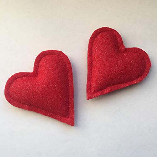 Glitter Heart Organic Catnip Cat Toy - 2 Pack