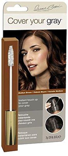 Irene Gari Gray Cover (Cover Your Gray Brush In Medium Brown, 0.25 oz (Pack of 6))