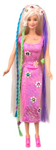 New Cool Clips Barbie Doll with Hair Accessories (Barbie Clip Dolls)