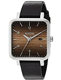 Nixon Men's 'Ragnar 36' Quartz Stainless Steel and Leather Casual Watch, Color:Black (Model: A9852457-00)