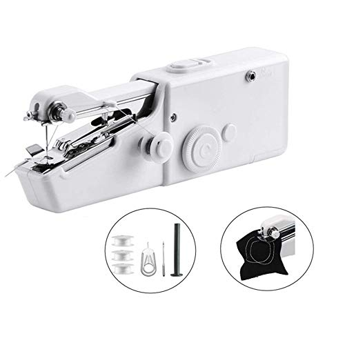 GOCTOS Handheld Sewing Machine, Cordless Handheld Electric Sewing Machine, Quick Handy Stitch for Fabric, Clothing, Kids Cloth Home Travel Use