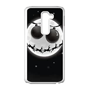 LG G2 Cell Phone Case White_MOON JACK ON A CHRISTMAS THEME TR2239472