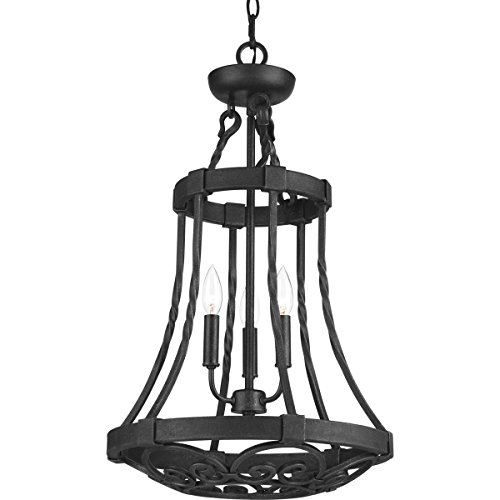 Scrollwork Cage (Progress Lighting P3691-71 3-60W Cand Foyer, Gilded Iron)
