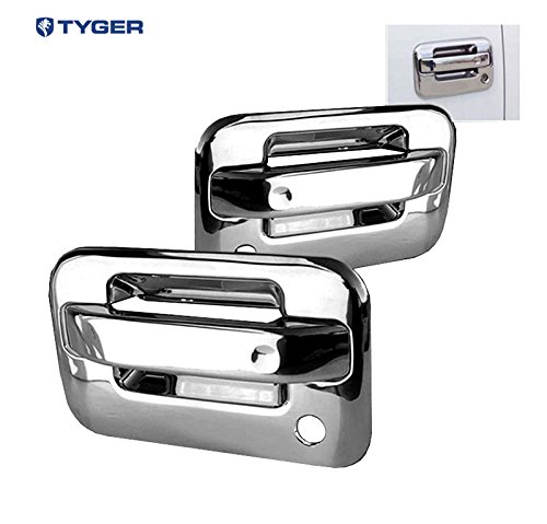 (Tyger ABS Triple Chrome Plated Door Handle Cover Fits 04-13 Ford F150 (Not for Heritage) 2 Doors with Passenger Side Keyhole No Key Pad)