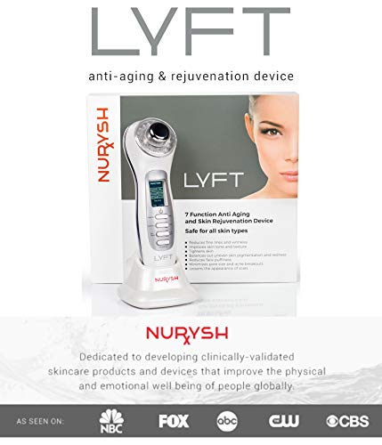 LYFT 2.0 by Nurysh. Facial Cleansing & Firming Massage Device. Galvanic & Micro-Vibration Technologies. Rejuvenate, Cleanse, Smooth Fine Lines, Tighten Skin, and Reduce Skin Irritation. by Nurysh (Image #8)