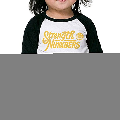 Golden State Warriors Strength In Numbers Toddler Unisex Raglan Shirt Funny Baseball Uniform 3/4 Sleeve