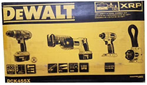 DEWALT DCK455X 18-Volt XRP Cordless 4-Tool Combo Kit