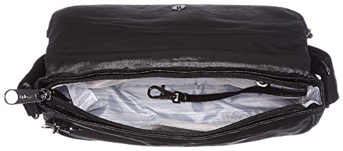 Kipling Earthbeat S, Borse a tracolla Donna Nero (Lacquer Night)