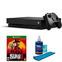 Microsoft Xbox One X 1TB Console (black) with Red Dead Redemption 2 and Universal Screen Cleaner (Large Bottle)