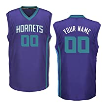 Youth Charlotte Hornets Purple Custom Replica Basketball Jersey