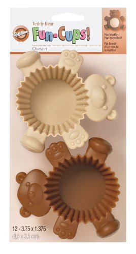 Wilton Bear Silicone Fun Cups