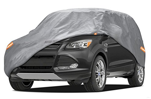Motor Trend TrueShield Waterproof SUV & VAN Cover - Heavy Duty Outdoor Fleece-Lined Sonic Coating - Ultimate 6 Layer Protection (XL - max length 210