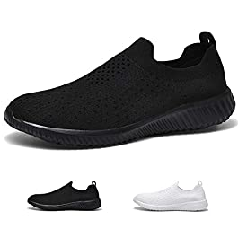 poemlady Women's Lightweight Athletic Shoes – Breathable Casual Slip-on Walking Sneakers