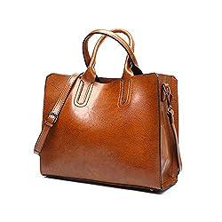 Handbags For Women Pu Leather Hobo Bag Ladies Purse Fashion Crossbody Shoulder Bag For Work Travel Brown