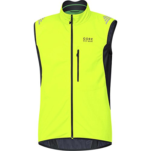 GORE BIKE WEAR Men's Soft Shell Cycling Vest, GORE WINDSTOPPER,  WS SO, Vest, Size L, Neon Yellow/Black, VWSELM (Windstopper Soft Pant Shell)