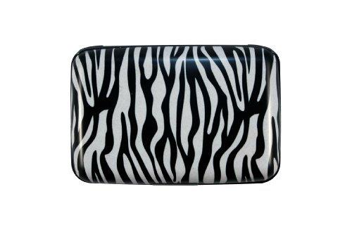 Zebra Safari Design High Quality Armored Credit Card RFID Block Wallet and Cash Holder