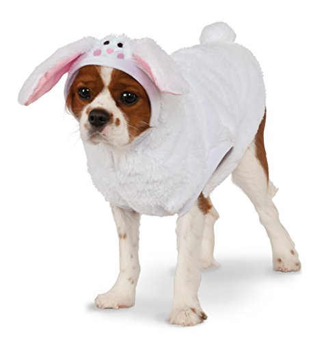 White Rabbit Costume For Dogs (Bunny Hoodie for Pet, Small)