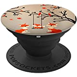 Popsockets Cell Phone Holder Fox Mama Papa Swing Their Child - PopSockets Grip and Stand for Phones and Tablets