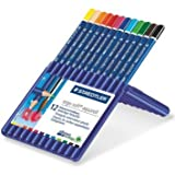 5 X Staedtler Ergosoft Watercolor Pencils, Set of 12 Colors in Stand-up Easel Case (156SB12)