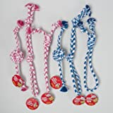 DOG TOY ROPE CHEWS 3 STYLES 2 COLORS IN PDQ, Case Pack of 96