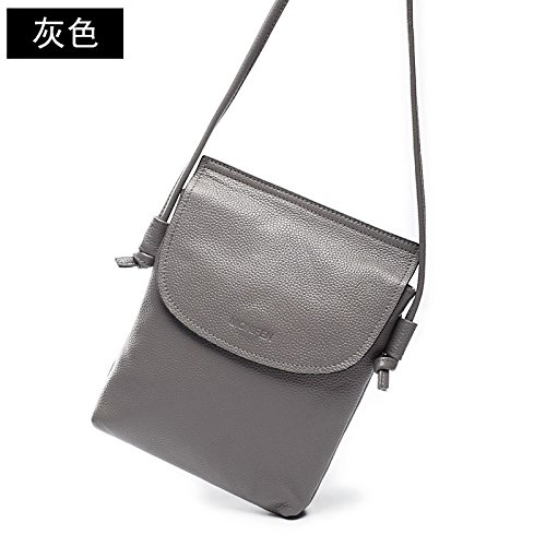 GUANGMING77 Tasche Handtasche Schultertasche Sommer Mini Handtasche Weiblichen Vertikalen Abschnitt gray zMnDOECnW