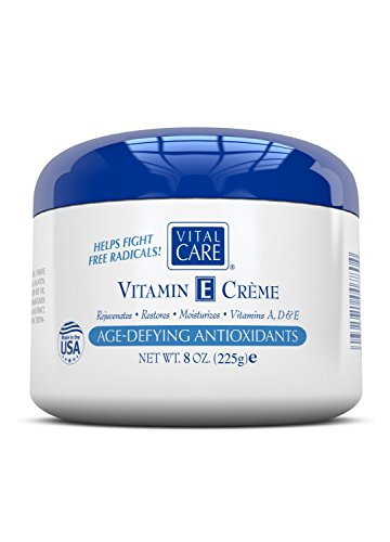 Vital Care Vitamin E Creme for Skin Treatments Smoothes Skin, Softens Wrinkles and Lines, Formulated with Age Defying Antioxidants, Replenish Revitalize and Restore Skin's Natural Beauty 8 oz.