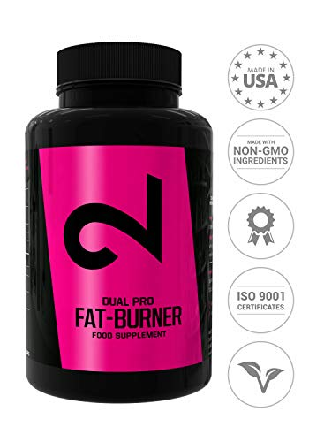 DUAL Pro F-BURNER | Even Without Sport | For Women and Men | 100 Vegan Capsules | Active Substances Complex | Without Additional Additives | High Dose | 100% Natural | Vegan & Gluten Free | Made in US