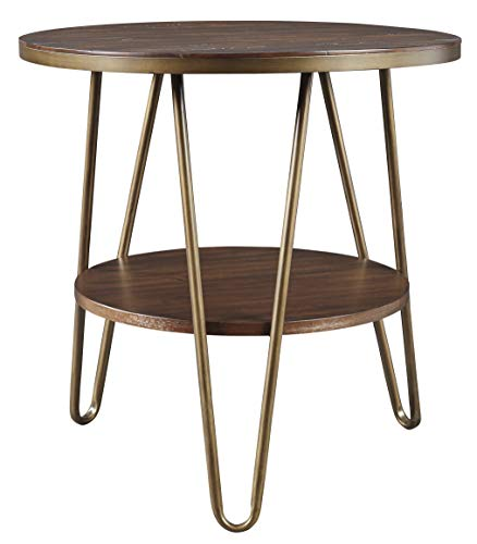 Signature Design by Ashley T395-6 Lettori Round End Table, 24
