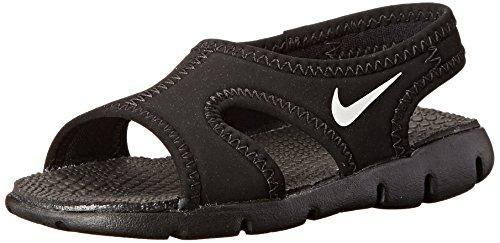 Nike Sunray Adjust 4 (Gs/Ps), Chanclas para Niños negro/blanco